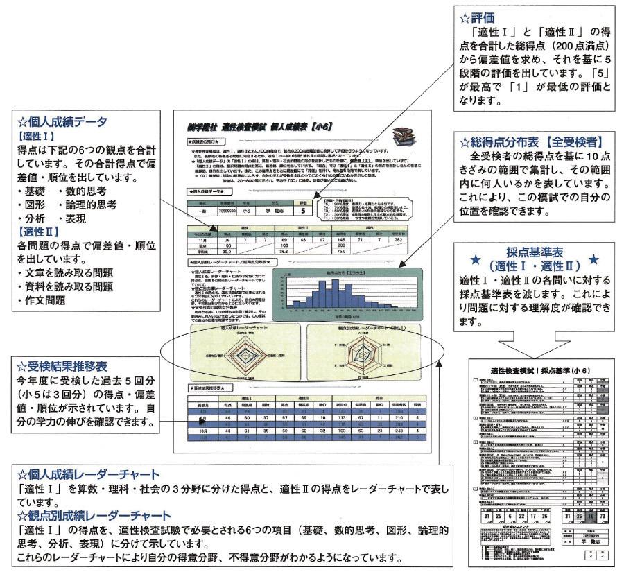 適性検査模試成績表例